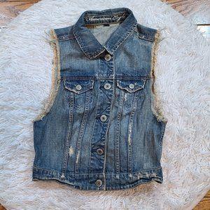 American Eagle Outfitters Women's Denim Jean Vest
